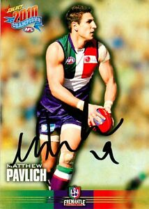 Signed-2010-FREMANTLE-DOCKERS-AFL-Card-MATTHEW-PAVLICH