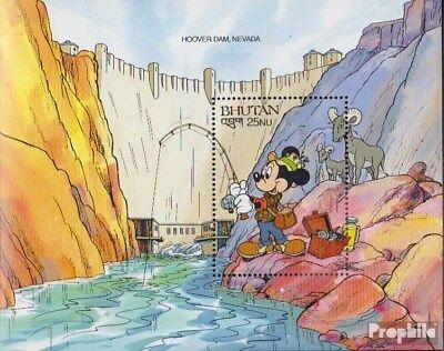 Bhutan Block310 Unmounted Mint / Never Hinged 1991 Walt-disney-figures