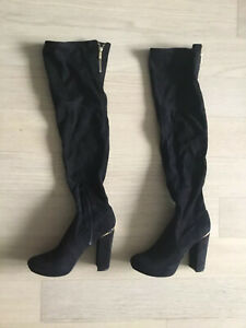 Guess Over-The-Knee Boots black Suede