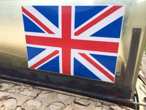 ARMY LAND ROVER WOLF WMIK SNATCH DEFENDER AFGHAN IRAQ UNION JACK LARGE DECAL X2