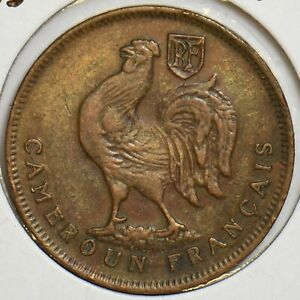 France 1943 Franc Rooster animal Cameroon 298084 combine
