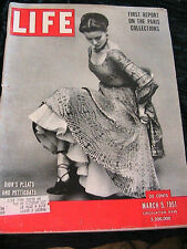 LIFE March 5, 1951 DIOR~PHOTOGRAPHER OF THE YEAR PICS *RARE 5 CENTS magazine