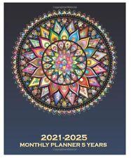 5 Year Planner 2021 2025 Weekly Monthly Calendar Organizer Mandala Art