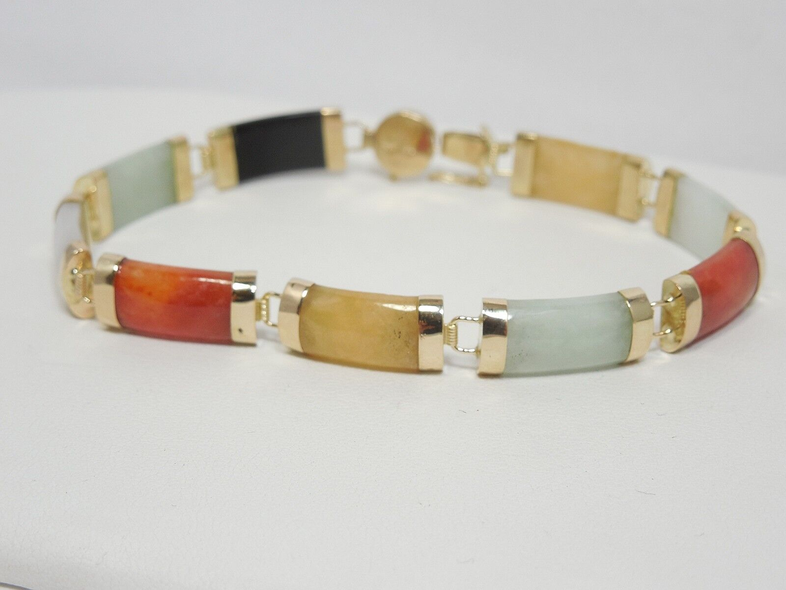 GORGEOUS COLORFUL GEMSTONE BRACELET 14KT YELLOW gold