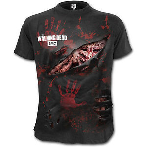 Walking-Dead-All-Infected-Ripped-Zombie-OFFICIAL-Spiral-Unisex-T-Shirt-to-XXL-D2