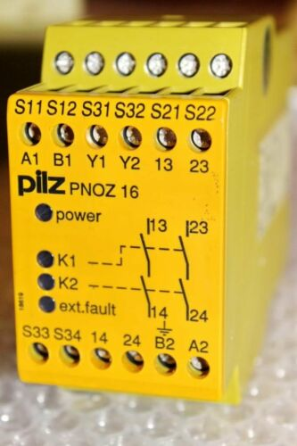 Pilz not-de-dispositivo de conmutación pnoz 16 24vac 24vdc 2n//o 774060