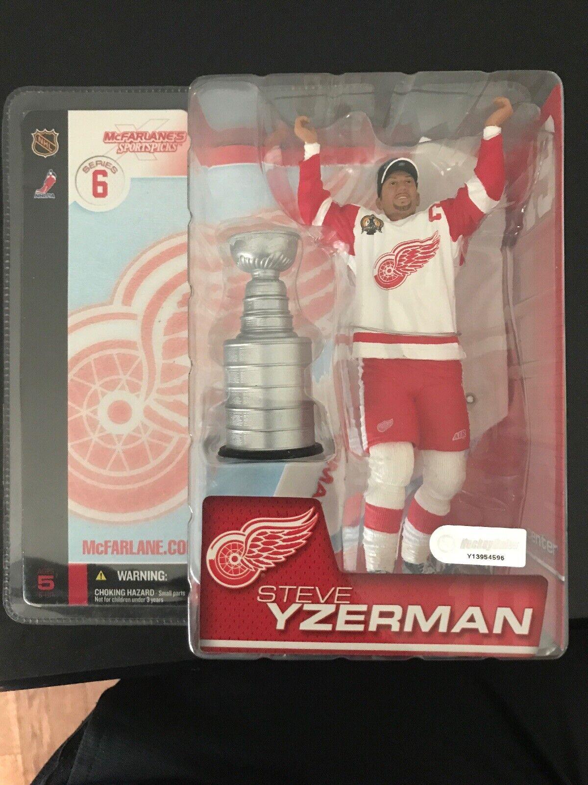 McFarlane NHL Series 6 Steve Yzerman Red Red Red Wings Stanley Cup Action Figure - New 0344c4