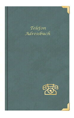 "Telefonbuch mit Gravur /"" Telefon Adressbuch/"" DIN A5 grau ca Farbe"