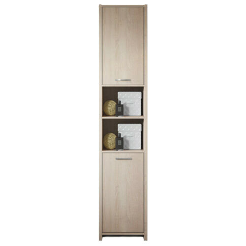 Modern Bathroom Cupboard Tall Cabinet Furniture Large Tallboy Storage Unit Home