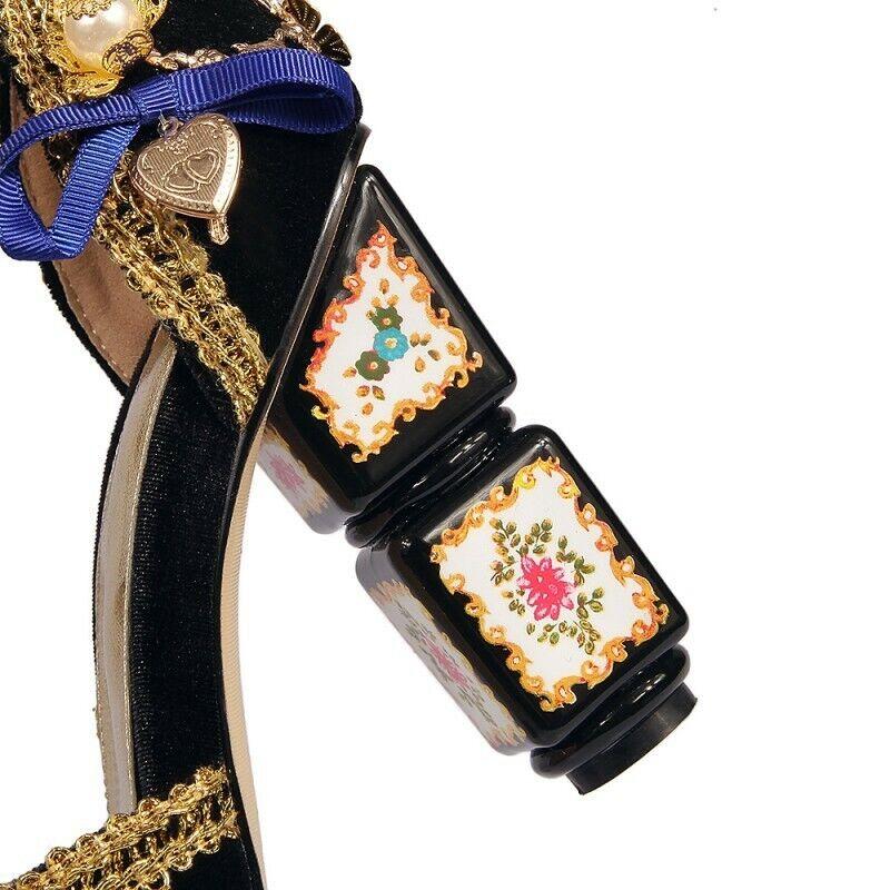 Donna Open Open Open Toe scarpe Rhinestone Pearl Trendy Block High Heel Sandals Wedding Hot 17eb84