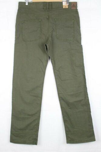New Prana Men/'s Bronson Pant Cargo Green # M4BR30111