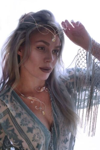 Silver ELVEN renaissance medieval circlet wedding headpiece fantasy elvish tiara