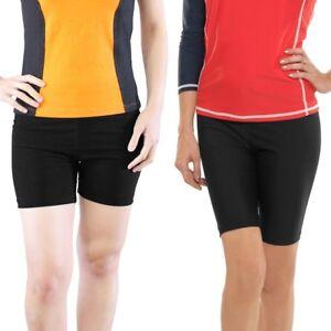 7a97b8dc92bf0 Image is loading Women-Swim-Shorts-Ladies-Swimming-Bottom-Surfing-Pants-