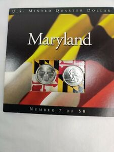 2000 Maryland State Quarters Coins of America U.S. Minted Quarter Dollar