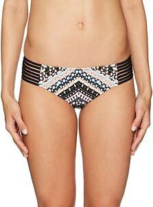 Seafolly Women's Swimwear Black Size 6 (AU 10) Geometric Bikini Bottom $75 #581