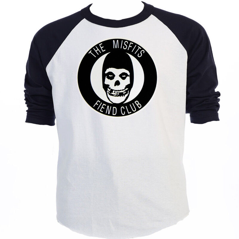 THE MISFITS,  Fiend Club  LOGO, Vintage Cool, Baseball & T-Shirts, S-5XL, T-1278