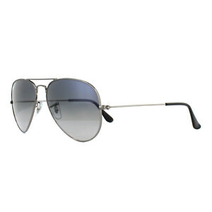 2a04f889669 Image is loading Ray-Ban-Sunglasses-Aviator-3025-Gunmetal-Polarized-Blue-