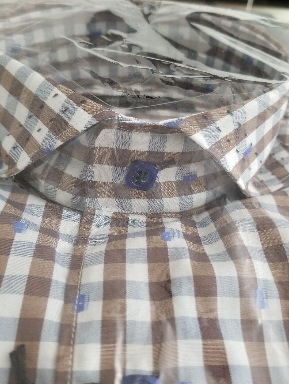 NWT Bogosse Men's size 3 or medium short sleeve button down shirt nice design