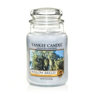☆☆WILLOW BREEZE☆☆ LARGE YANKEE CANDLE JAR☆☆FRESH SCENT- FREE FAST SHIPPING