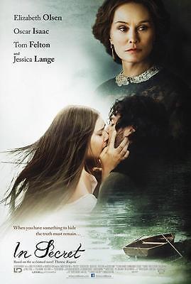 """IN SECRET - 13.5""""x20"""" Original Promo Movie Poster 2014 Jessica Lange RARE"""