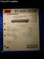 Sony Service Manual ST JX661 / SE200 Tuner  (#2052)