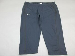 UNDER-ARMOUR-SIZE-L-WOMENS-BLACK-ALL-SEASON-GEAR-ATHLETIC-CROPPED-PANTS-179
