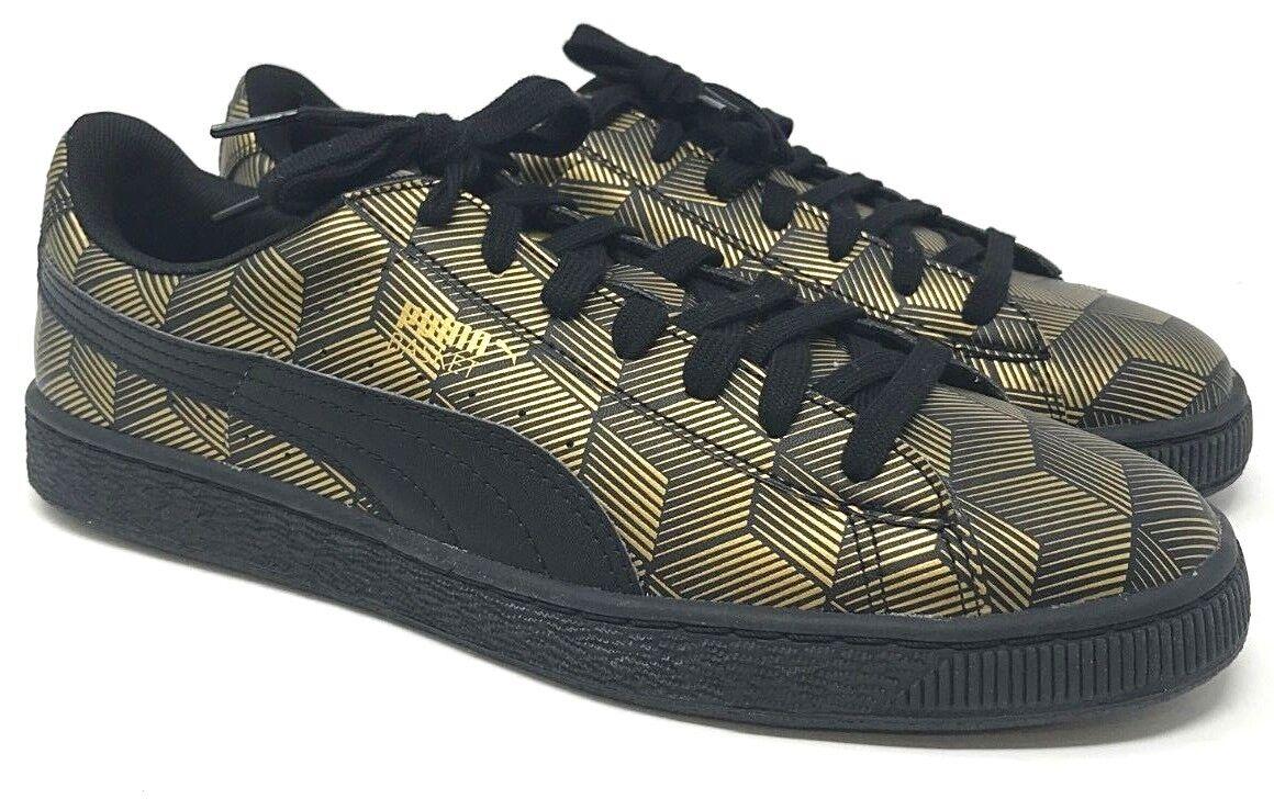Puma Basket Classic Metallic SIZE 10 Black gold