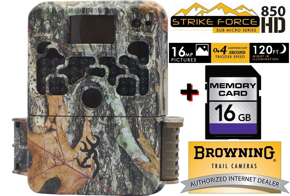 Browning Strike Force HD 850 16MP Infrared Trail Camera Video FREE 16GB SD Card