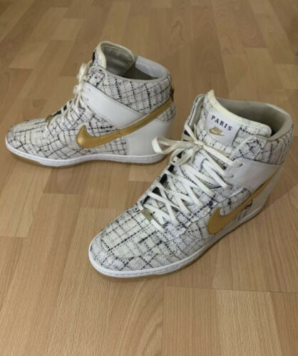 Nike Dunk Sky Hi City Paris Metallic Gold Wedge Sh