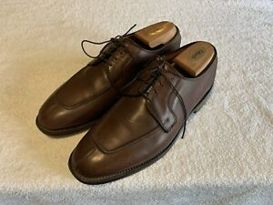 1967eb1ffd3 Details about Allen Edmonds Hancock Brown Leather Split Toe Bluchers Dress  Shoes 9D