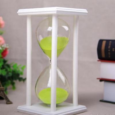 Colors! 30 / 60Min Wooden Sand Sandglass Hourglass Timer Clock Special Decor E