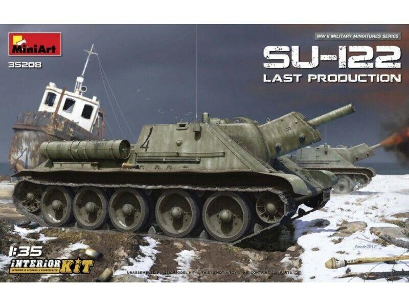 Miniart Semovente D'artiglieria SU-122 Last Production Modello in kit di Montagg