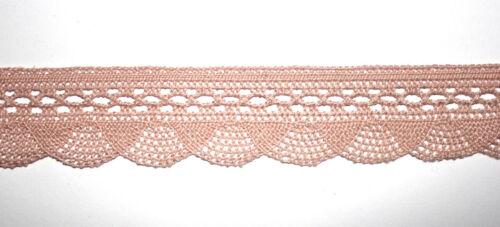 1 m klöppelspitze rosa 33 mm banda cenefa bávara decorativas gancho punta de nuevo