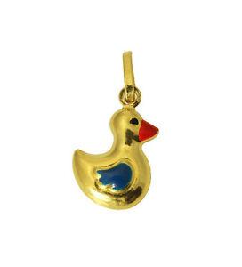 14K Yellow Gold Duck Charm Pendant