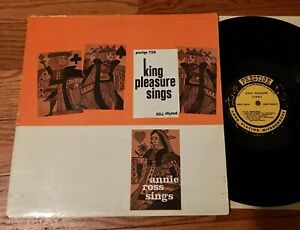King-Pleasure-Sings-Annie-Ross-Sings-LP-1958-Mono-RVG-Prestige-PRLP-7128-Jazz