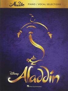 Adroit Disney's Aladdin Piano Vocal Selections Sheet Music Book Arabian Nights Ali-afficher Le Titre D'origine