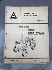 Allis Chalmers 220 Amp 220 Fwa Parts Catalog U79001342
