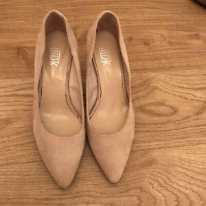 BDK Cream Suede Court Shoes 36/3 Brand