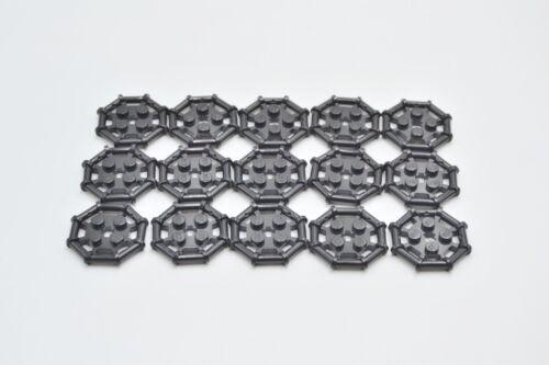 LEGO 15 x plaque avec poignée anneau poncée Noir Black Plate 30033 75937