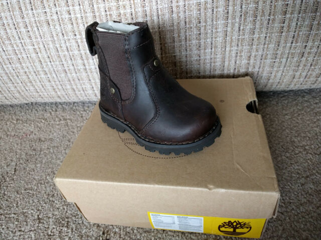 TIMBERLAND ASPHALT TRAIL BROWN LEATHER BOOTS SIZE UK 3.5 EUR 20 BRAND NEW