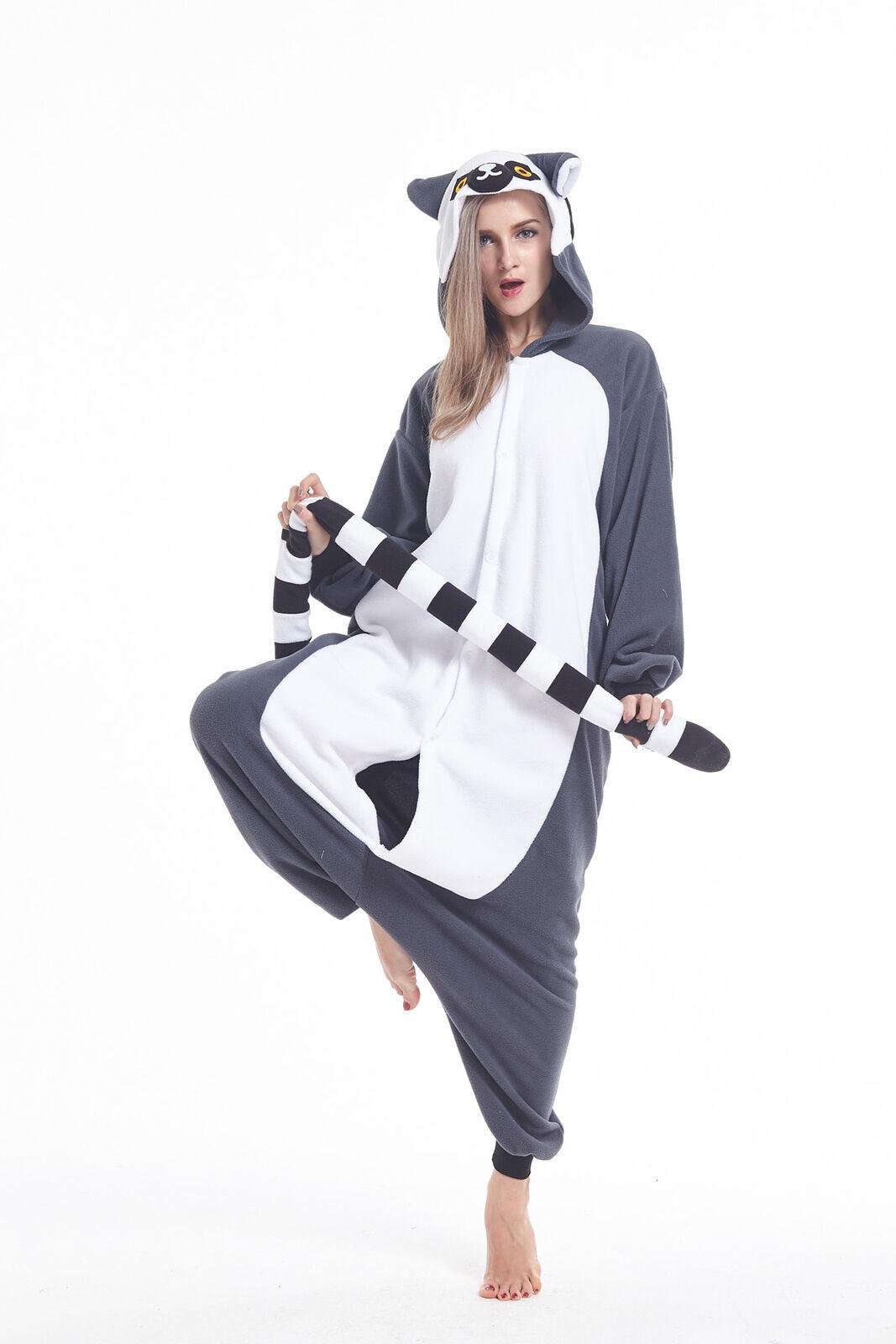 US Kigurumi Pajamas Onesi1 Anime Cosplay Costume Unisex Adul