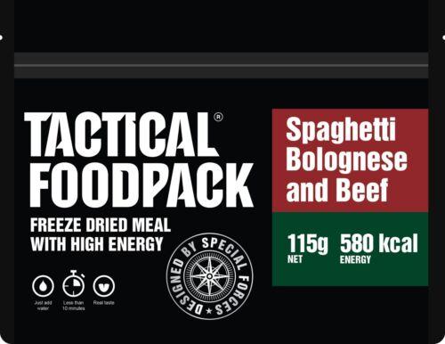 Tactical foodpack Spaghetti Bolognaise Haute Énergie séchées congelées Ration Pack//MRE