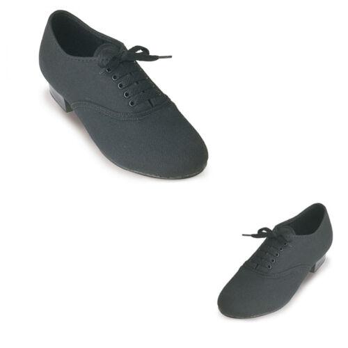 Roch valley bct garçons toile oxford tap chaussures noires montés bout robinets