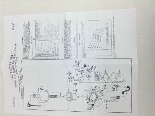 2 HITACHI 1 BARREL CARBURETOR KIT FITS 1972 NISSAN 240Z 2393CC ENGINES 2 CARBS