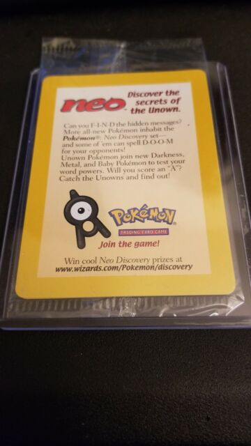 ENTEI #34 Black Star Promo Factory SEALED Reverse Holo WOTC Pokemon Card