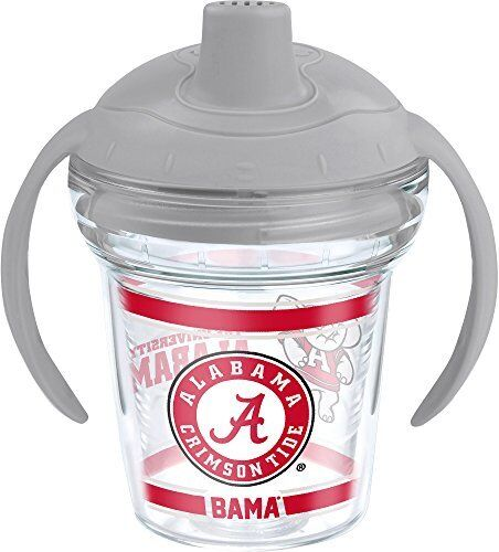 6 oz Tervis Alabama University Clear Co-Polyester BPA Free Sippy Cup with Lid