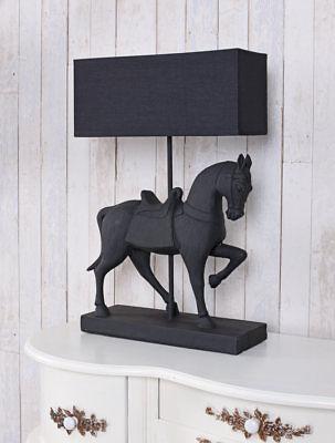 Möbel & Wohnen Tischlampe Pferd Leuchte Pferdefigur Lampe Nachttischlampe Tischleuchte Schwarz AusgewäHltes Material Beleuchtung