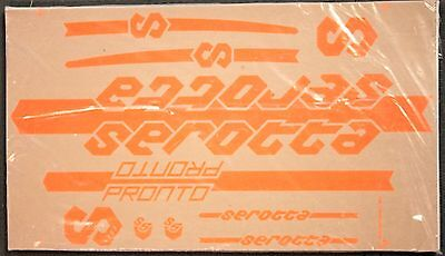 Genuine NOS Serotta Pronto Loud Orange Bike Frame Decals OEM Complete Ti Set