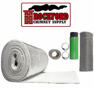 Chimney Liner Insulation Kit Fits 7 Quot 8 Quot X 20 25 Liners