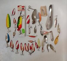 Various Jigging Spoons Nebco Johnson Huntington Vintage Fishing Lures Large Lot